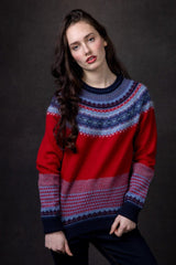Alpine Fairisle Sweater (Poppy)