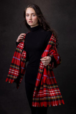 Luxury Oversized Scarf (Rowan Plaid)