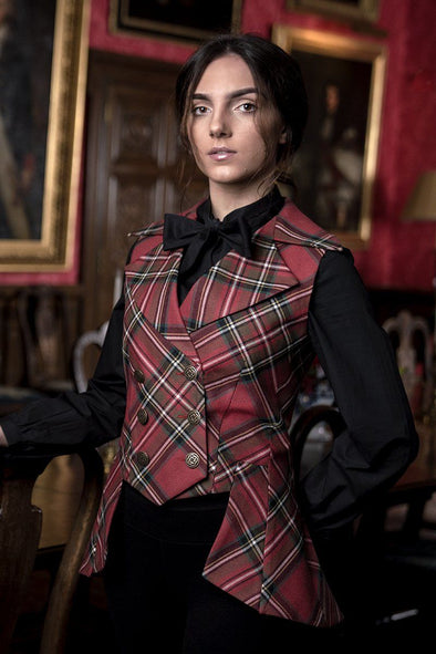 Lady Mary Waistcoat (Fine Wool Tartan Collection)