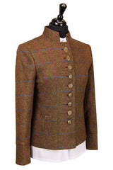 Great Scot Claire Jacket Coat Brown Check Tweed