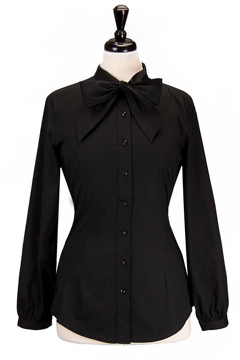Countess Blouse (Jet Black)
