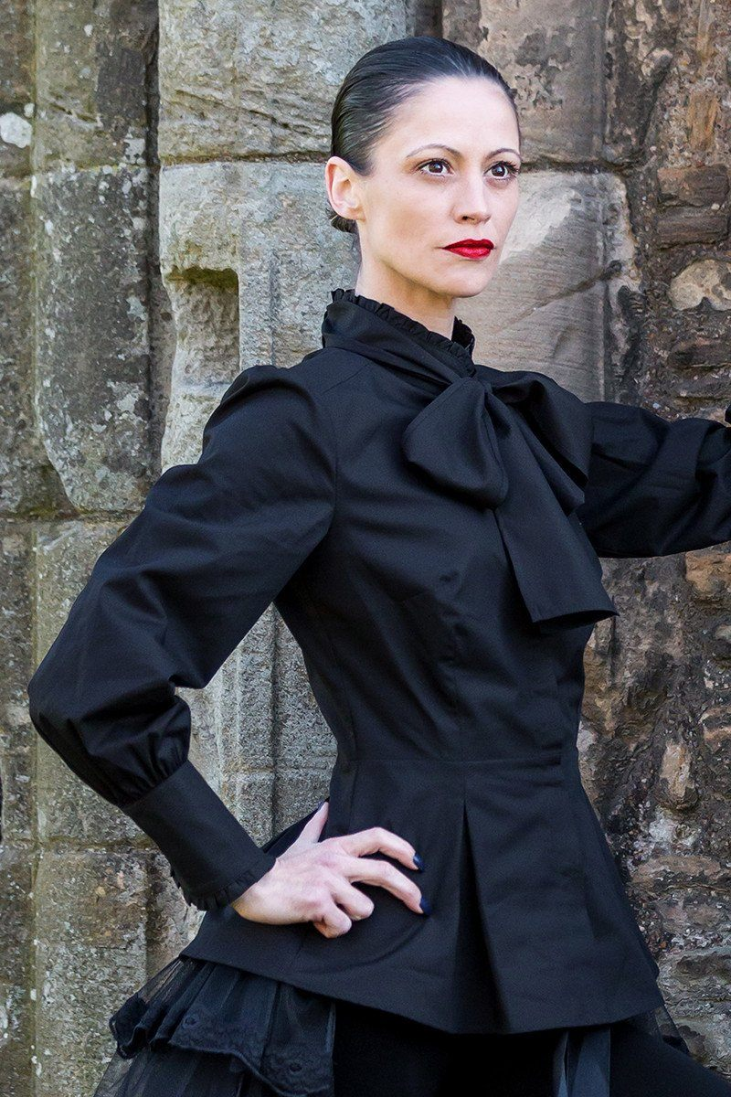 The Great Scot Victorian Blouse (Jet Black)