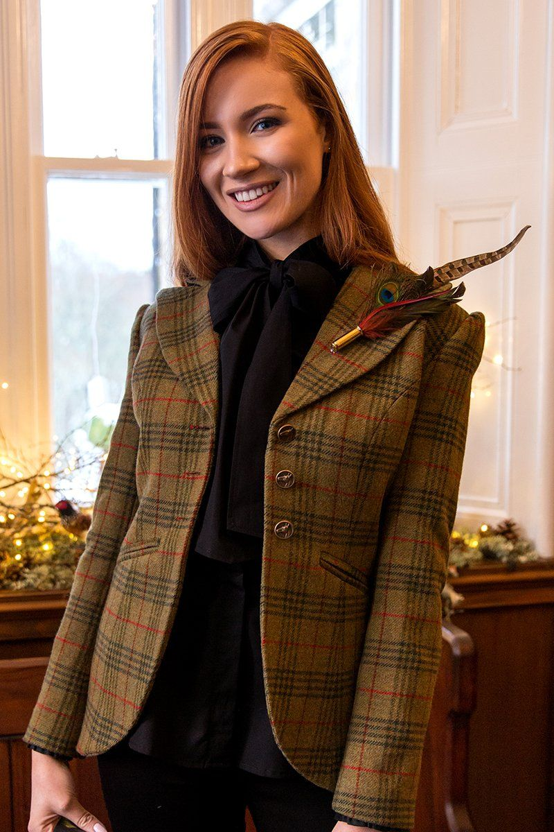 Great Scot Emmeline Jacket Coat Green Checked Tweed Victorian