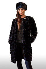 CERSEI Luxury Faux Fur Coat (Raven Black)