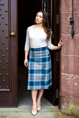 Lady's Custom Tartan Hostess Kilt (Mid-Length)