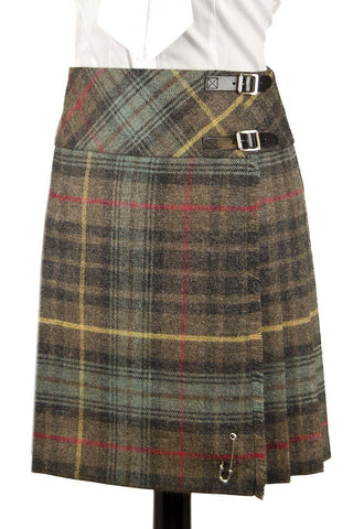 Lady's Kilted Skirt (Hunting Stewart Tweed-Tartan)