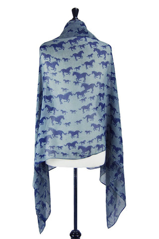 Multi-Tie Scarf (Galloping Chambray & Navy)
