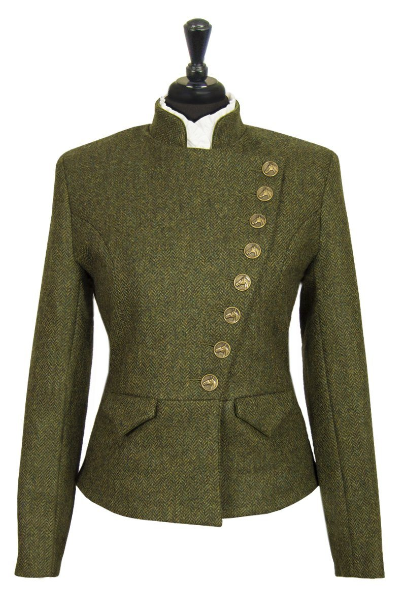 Great Scot Lieutenant Jacket Coat Helmsdale Green Herringbone Tweed Victorian