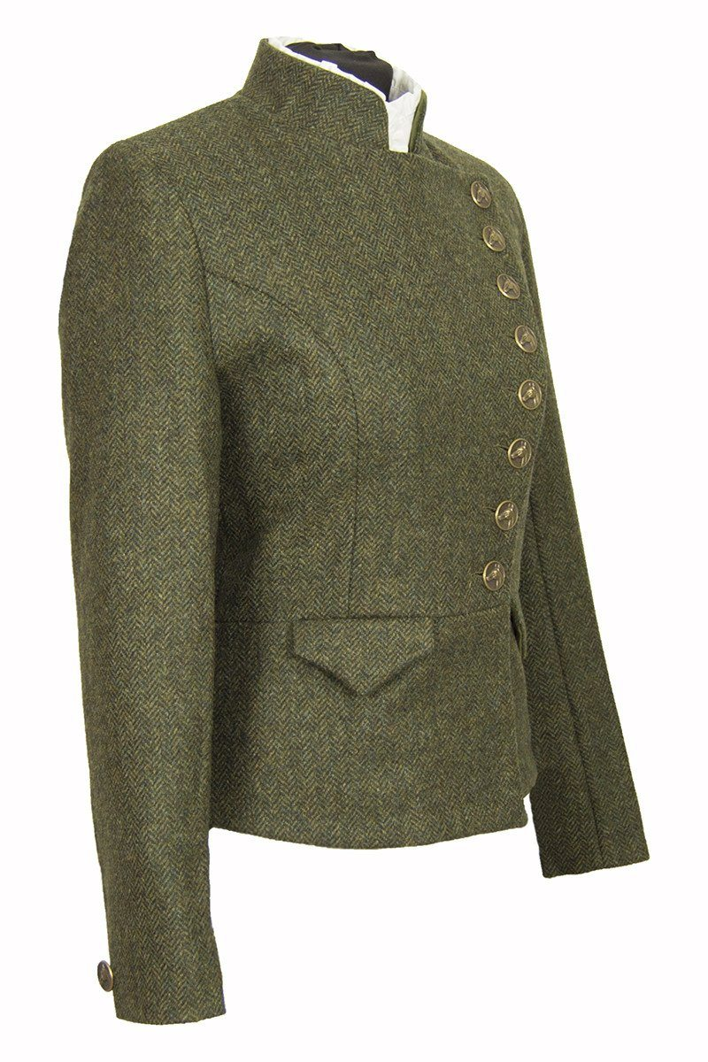 Lieutenant Jacket Helmsdale Green tweed side