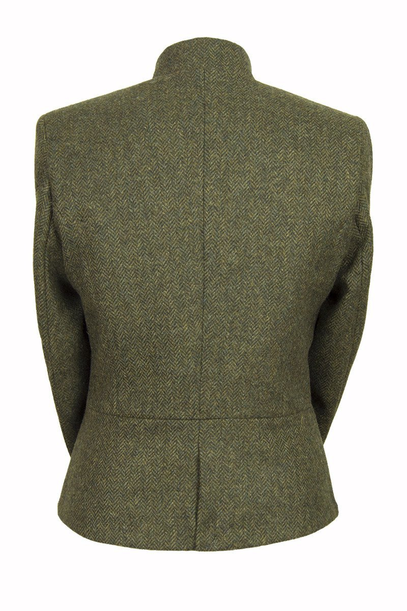 Lieutenant Jacket Helmsdale Green tweed back