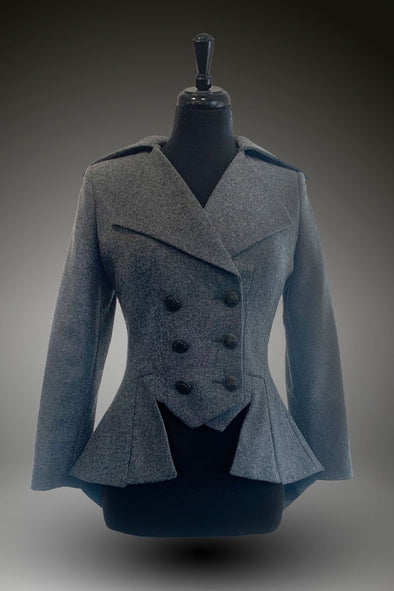 SAMPLE UK 10  Lady Mary Jacket (Granite Grey Flannel)