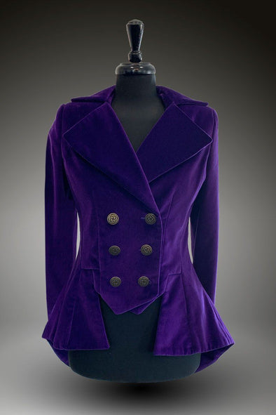 SAMPLE UK 10 Lady Mary Jacket (Luxury Velvet -  Thistle)