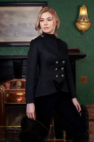 Lady Mary Classic (Black Wool Gabardine)