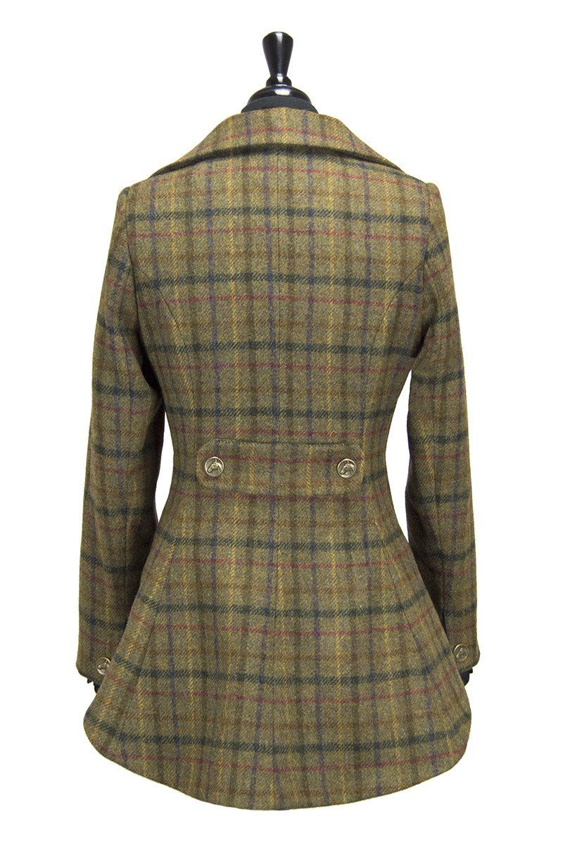 Great Scot Lady Mary Jacket Coat Tweed Check Victorian Peplum