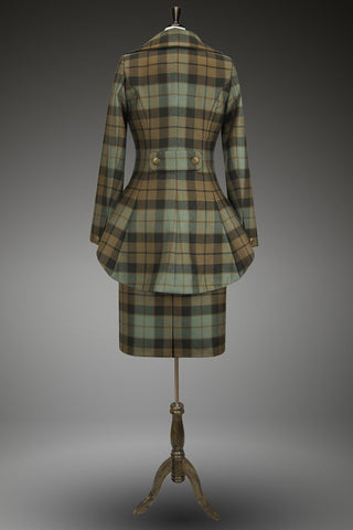 Lady Mary Suit with Straight Skirt (Custom Tartan)