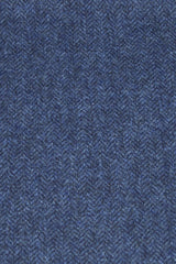 Lorne Blue Herringbone Tweed by the Metre