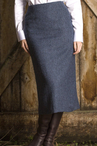 "Tailored Tweed 21"" & 31"" Skirt (Lorne-Blue)"