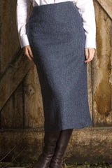 Great Scot Tailored Skirt Lorne Blue Tweed 31""