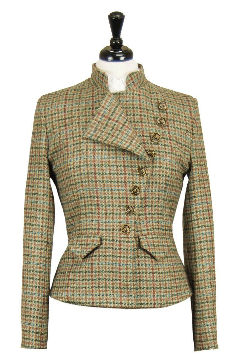 Great Scot Lieutenant Jacket Coat Aberfeldy Multi-check Tweed Victorian