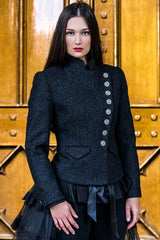 Great Scot Lieutenant Jacket Coat Black Torridon Tweed Victorian