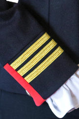 Great Scot Officer Jacket Coat Luxury Navy Wool Military Regimental Style Military Standard Braiding
