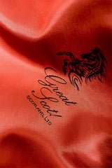Great Scot Red embossed lining