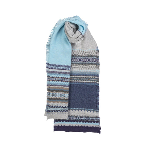 Fairisle Knit Fringed Scarf (Colonsay)