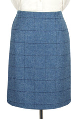 "Tailored Tweed 21"" Skirt (Lossie-Blue Tweed)"