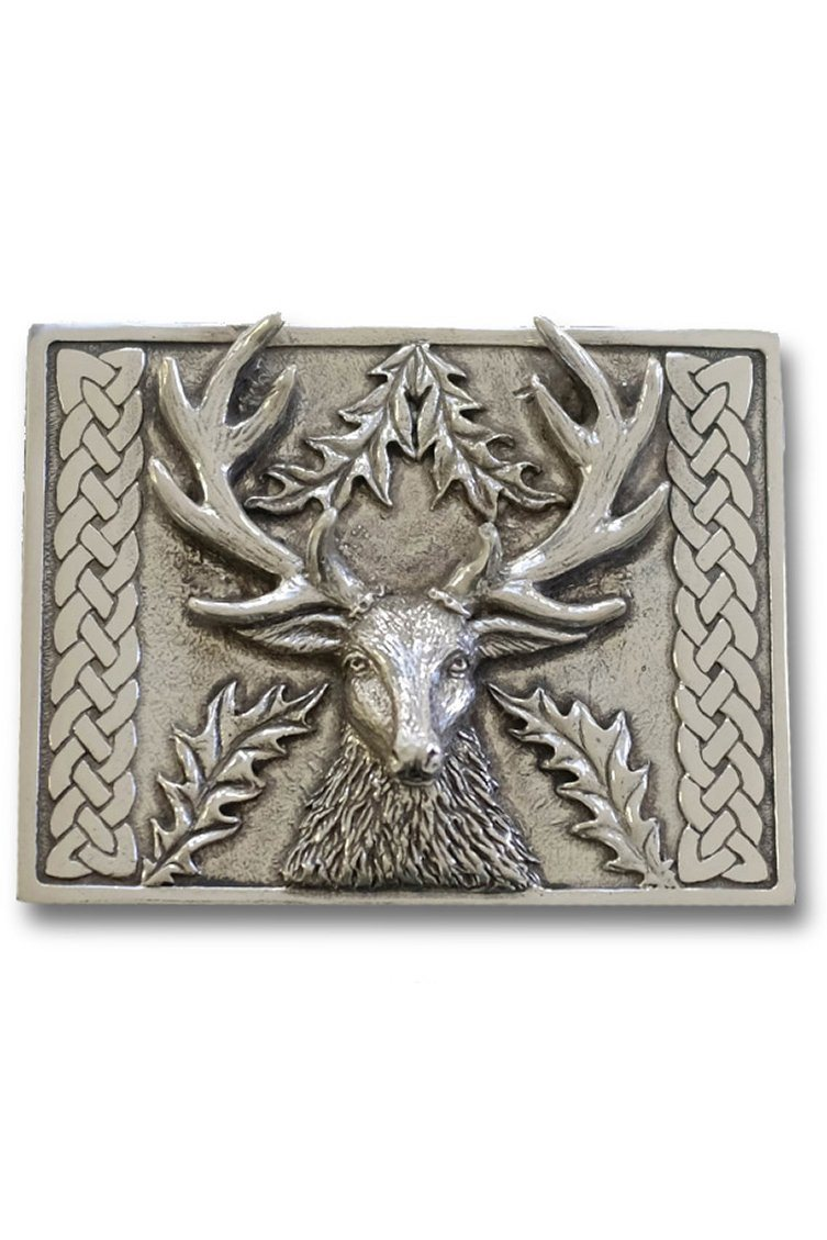 Traditional Kilt Belt Buckle (Stag)