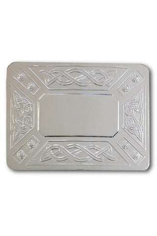 Traditional Kilt Belt Buckle (Simple Contemporary Celtic)