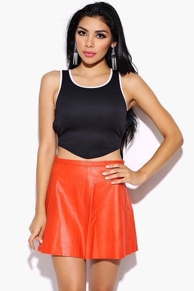 First Move Crop Top - Black