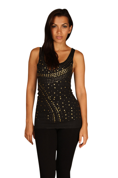 City Lights Studded Tank