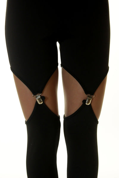 Black Garter Leggings