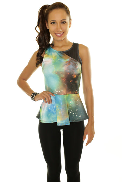Galaxy Peplum Top