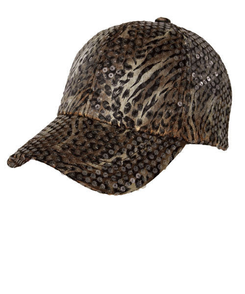 Wild Animal Sequin Cap