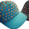 Blue Spiked Trucker Hat