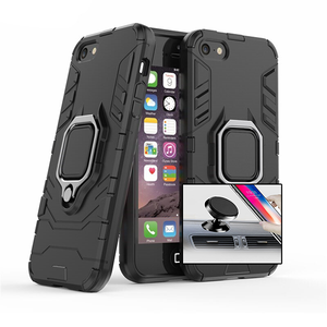 Kit Suporte Magnético Carro + Capa 3X1 Military Defender - Iphone 5 / 5S / SE