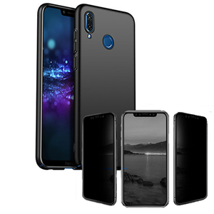 Kit Película 5D Anti-Spy + Capa SlimShield - Honor 8X - Preto