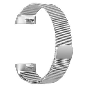 Pulseira Bracelete Milanese Loop Fecho Magnético - Fitbit Charge 3 / Charge 3 SE  - Silver