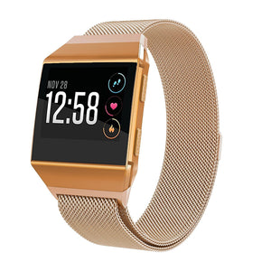 Pulseira Bracelete Milanese Loop Fecho Magnético - Fitbit Ionic - Rosa Rose