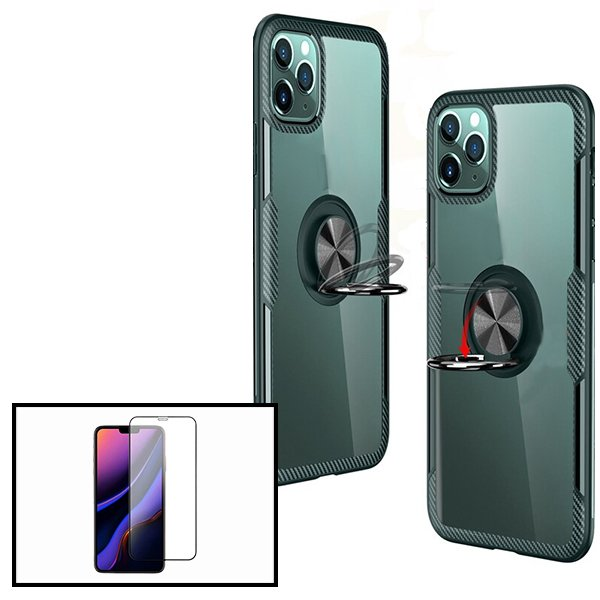 Kit Capa 3x1 Phonecare Clear Armor + Película Vidro Temperado 5D Full Cover Iphone 7 Plus/ 8 Plus
