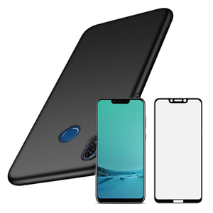 Kit Película de Vidro 5D full cover + Capa SlimShield - Huawei Honor Play Preto