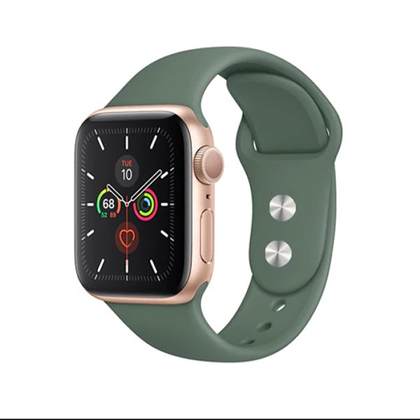 Pulseira Bracelete SmoothSilicone - Apple Watch Series 3 - 38mm - Verde Escuro