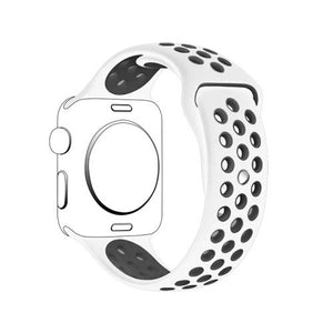 Pulseira Bracelete SportyStyle - Apple Watch Series 3 - 38mm - Branco / Preto