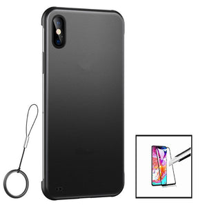 Kit Película de Vidro 5D full cover + Capa Invisible Bumper - Xiaomi Redmi 9A
