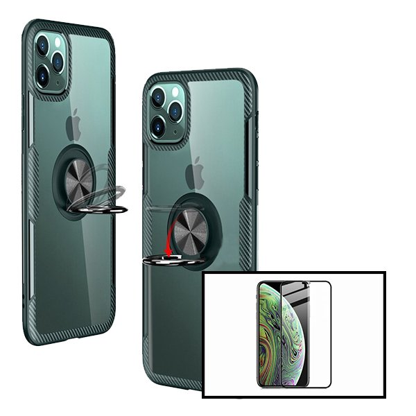 Kit Capa 3x1 Phonecare Clear Armor + Película Vidro Temperado 5D Full Cover - Iphone 12
