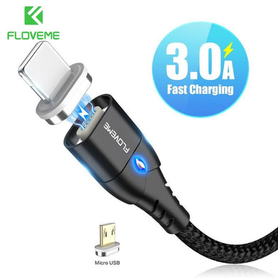 Cabo Magnético Micro-USB Fast Charge