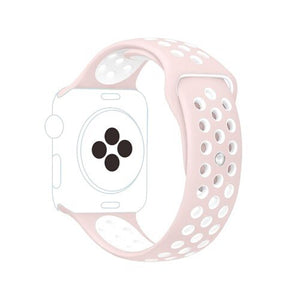 Pulseira Bracelete SportyStyle - Apple Watch Series 3 - 38mm - Rosa / Branco