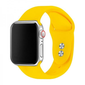 Pulseira Bracelete SmoothSilicone - Apple Watch Series 3 - 38mm - Amarelo