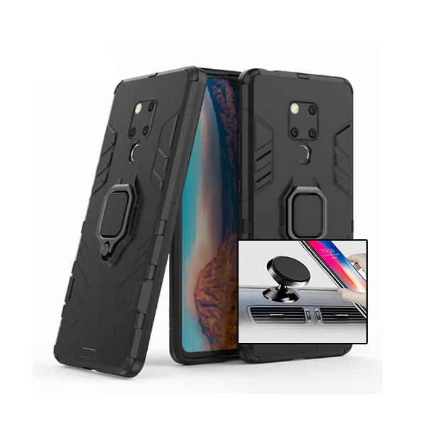 Kit Suporte Magnético Carro + Capa 3X1 Military Defender - Huawei Mate 20